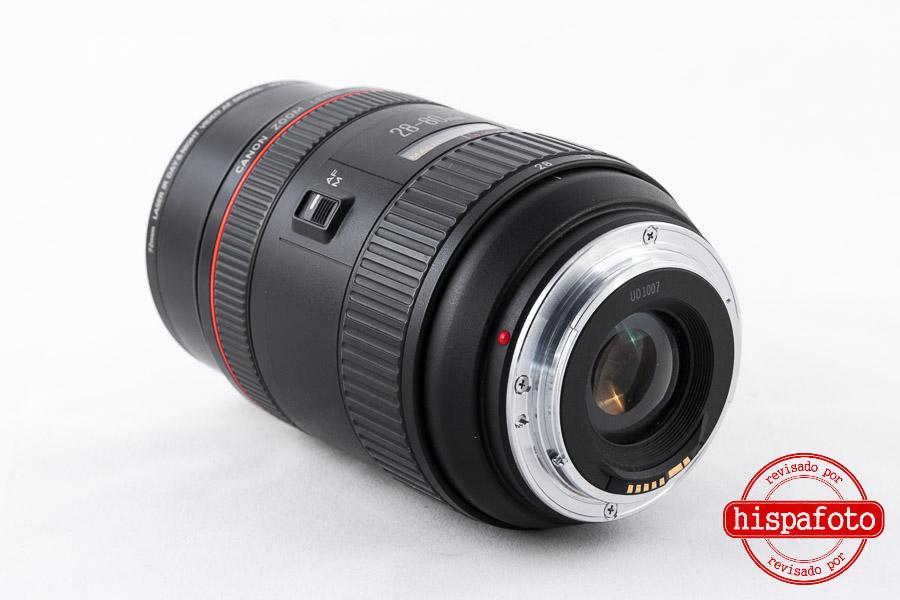 Canon EF 28-80mm f2.8-4 L USM lente anterior y bayoneta