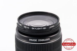 Canon EF-S 18-55 f3.5-5.6 IS lente posterior