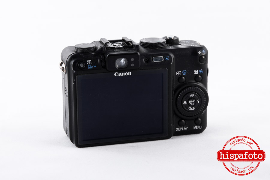 Canon Powershot G9 pantalla trasera