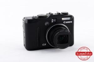 Canon Powershot G9 objetivo frontal