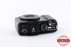 Canon Powershot G9 superior, ruedas y zapata