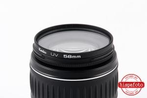 Canon EF-S 18-55mm f3.5-5.6 lente posterior