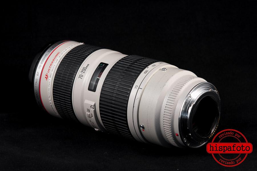 Canon EF 70-200mm f2.8L USM lente posterior y bayoneta